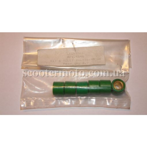 Ролики вариатора, тюнинг Leovince 16*13 6,7 грамм