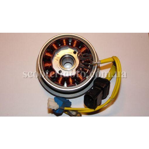 Генератор в сборе: статор и ротор Aprilia Sportcity 200, Atlantic 200, оригинал